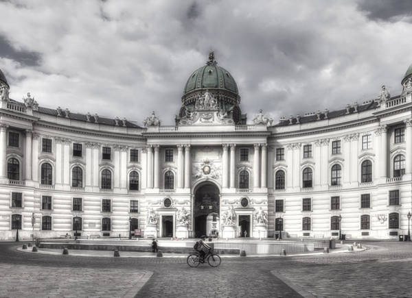 Photograph - Rider In Front The Hofburg by Roberto Pagani