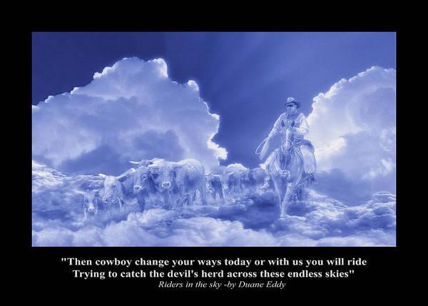 Digital Art - Riders In The Sky by Rick Mosher