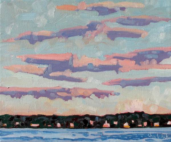 Stratocumulus Painting - Ridge Stratocumulus by Phil Chadwick