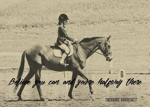 Photograph - Riding Goals Quote by Dressage Design
