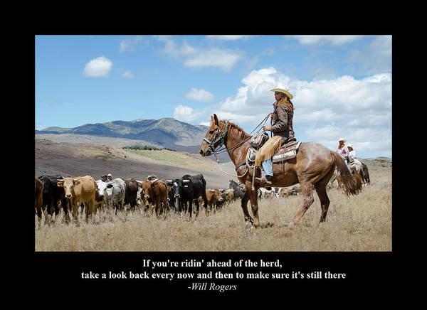 Digital Art - Riding Herd by Rick Mosher