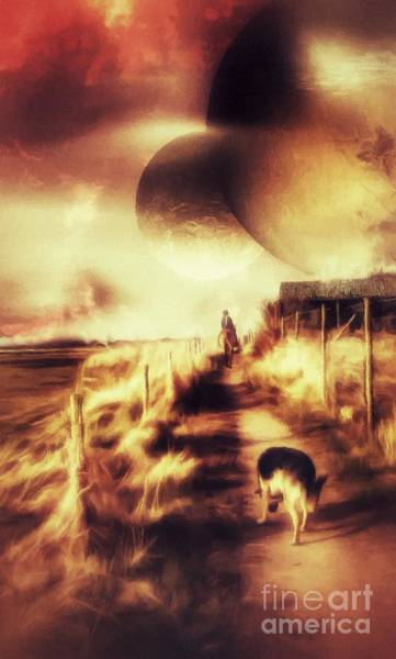 Digital Art - Riding Offworld by Abbie Shores