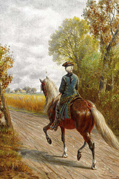 Wall Art - Painting - Riding Scene by Franz Quaglio