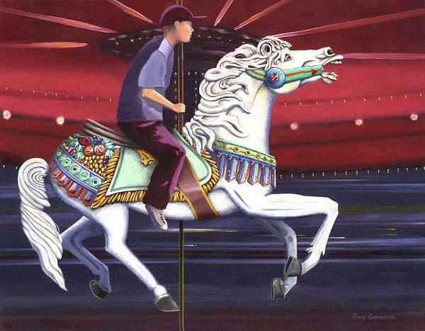 Painting - Riding The Carousel by Gary Giacomelli