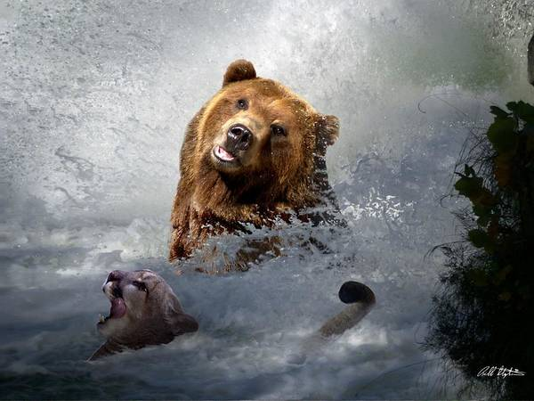 Mountain Lion Digital Art - Riding The Gauntlet by Bill Stephens