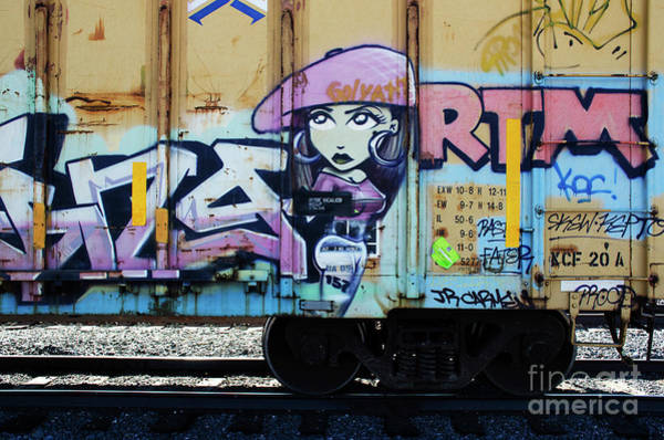 Wall Art - Photograph - Riding The Rails Train Graffiti 2 by Bob Christopher