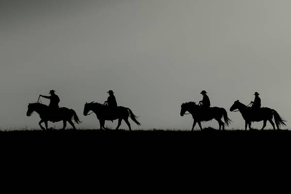 Photograph - Riding The Range At Sunrise by Kay Brewer