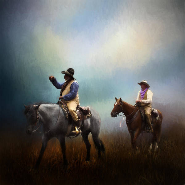 Stockyards Photograph - Riding The Range by David and Carol Kelly