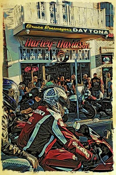 Daytona Bike Week Wall Art - Photograph - Riding The Streets by Alice Gipson