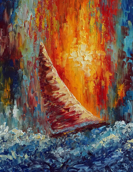 Wall Art - Painting - Riding The Swells by David G Paul