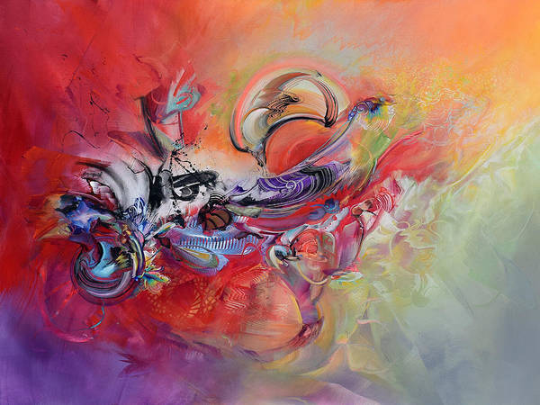 Wall Art - Painting - Riding The Wave Of Fire-breaking Through by Susan Card