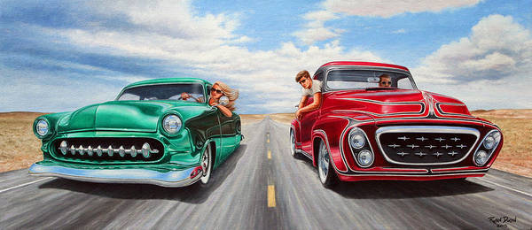 Wall Art - Painting - Riff Raff Race 4 by Ruben Duran