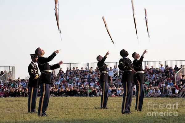 Photograph - Rifle Toss By The Old Guard At The Twilight Tattoo  In Washington Dc by William Kuta