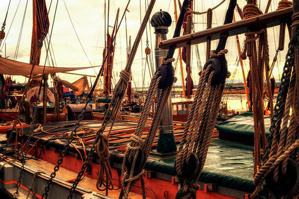Photograph - Rigging Of Ancient Yachts by John Williams