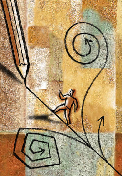 Wall Art - Painting - Right Direction by Leon Zernitsky
