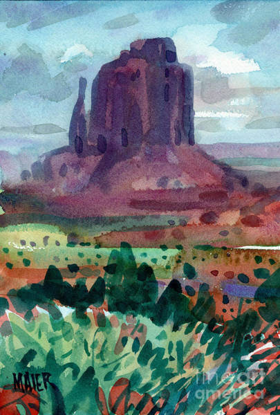 Monument Valley Painting - Right Mitten by Donald Maier