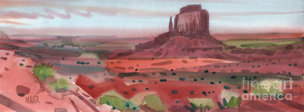 Butte Painting - Right Mitten Panorama by Donald Maier