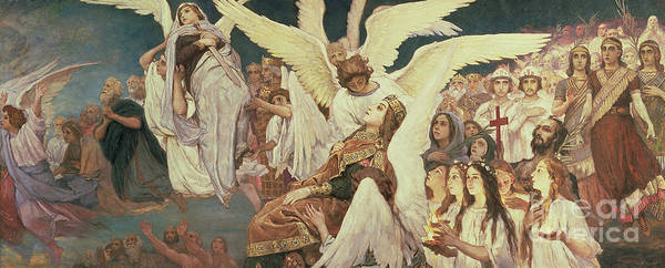 Wall Art - Painting - Right Panel From The Threshold Of Paradise by Victor Mikhailovich Vasnetsov