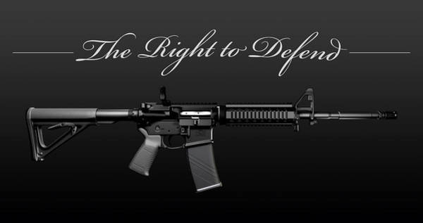 Ar 15 Wall Art - Digital Art - Right To Defend by 45Snipers