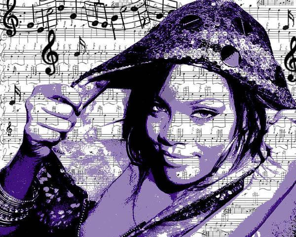Digital Art - Rihanna by Brad Scott