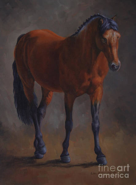 Dressage Painting - Riley by Lisa Phillips Owens