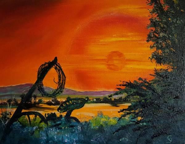 Painting - Rim Of Fire     72 by Cheryl Nancy Ann Gordon