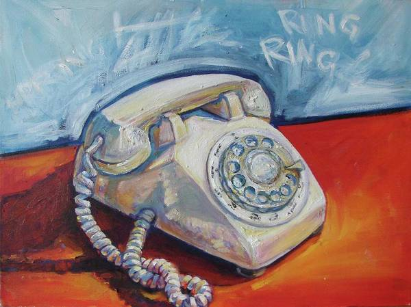 Dial Painting - Ring Ring by Diane Fales