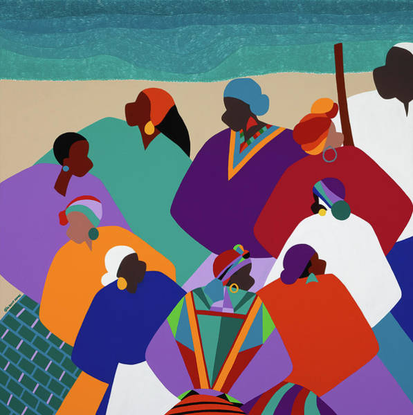 African Dance Painting - Ring Shout Gullah Islands by Synthia SAINT JAMES