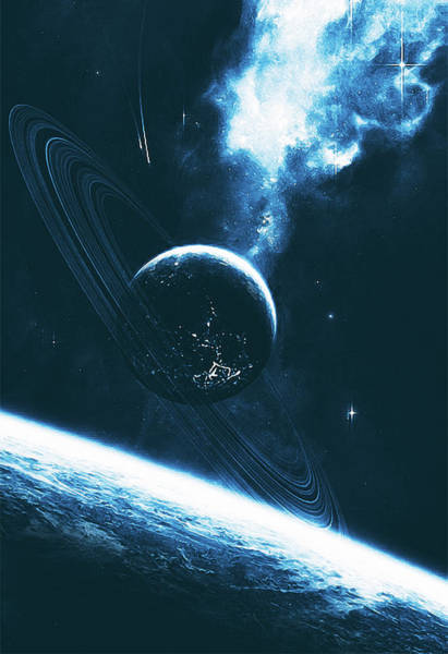 Painting - Ring Worlds - 04 by Andrea Mazzocchetti