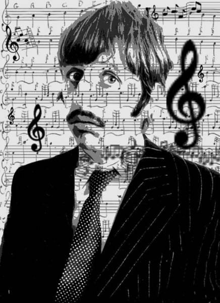 Digital Art - Ringo Star Of The Beatles by Brad Scott