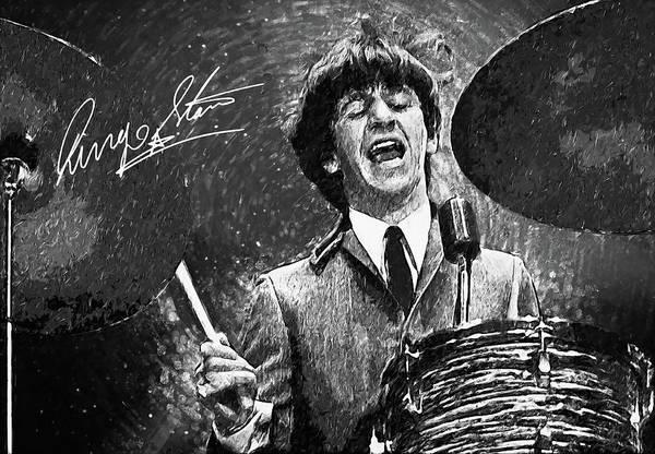 Psychedelia Digital Art - Ringo Starr by Zapista Zapista