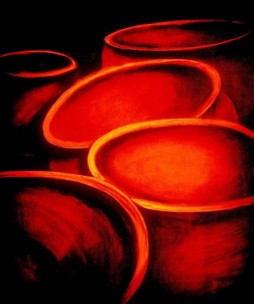 Painting - Rings Of Fire - Cauldrons by VIVA Anderson