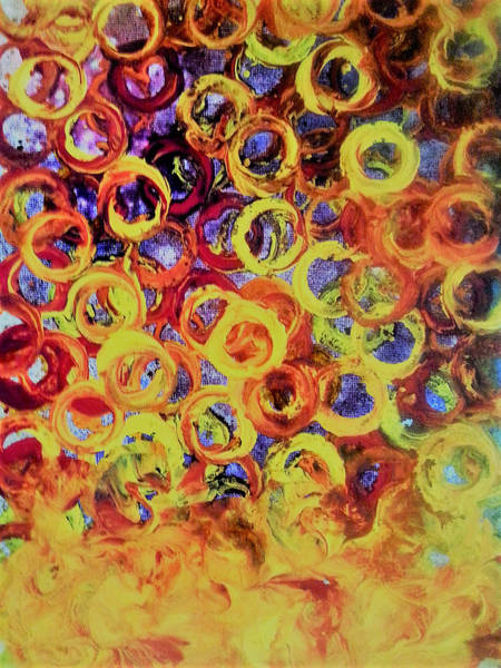 Painting - Rings Of Fire by Jan Pellizzer