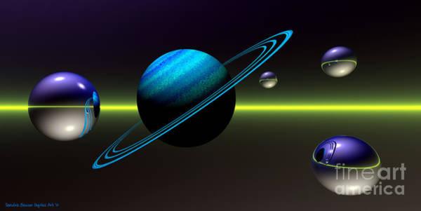Digital Art - Rings Of Saturn by Sandra Bauser Digital Art