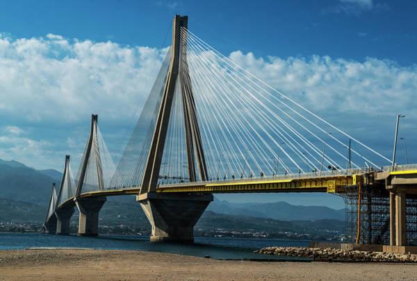 Photograph - Rio-andirio Bridge On A Sunny Day by Jaroslaw Blaminsky