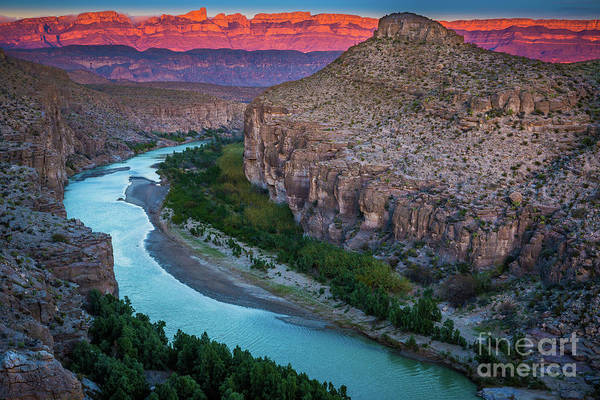 Photograph - Rio Grande At Dusk by Inge Johnsson