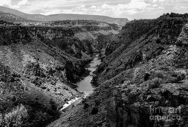 Queste Photograph - Rio Grande Carved Canyon 2 by Bob Phillips