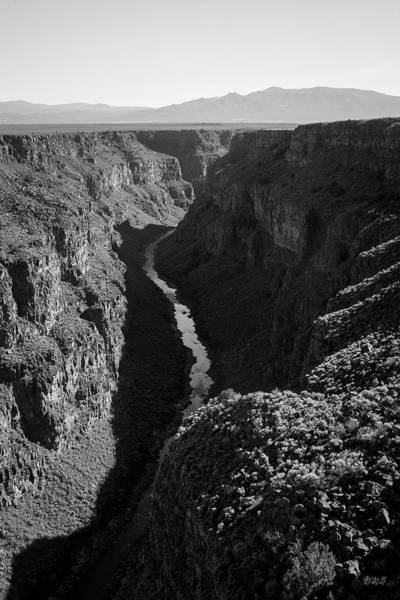 Photograph - Rio Grande Gorge I Bw by David Gordon
