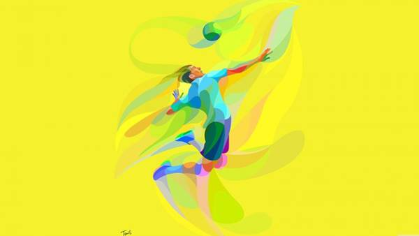 Volley Painting - Rio Olympic 2016 by Jewel Mahmud