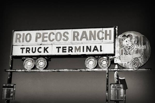 Photograph - Rio Pecos Ranch Truck Terminal by Patricia Montgomery