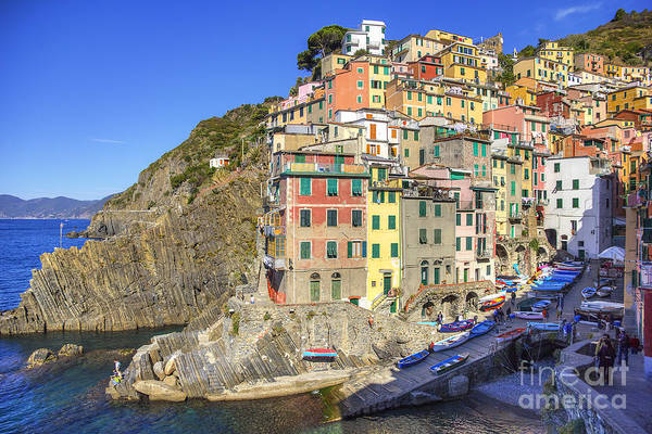 Photograph - Riomaggiore Boat Launch by Spencer Baugh