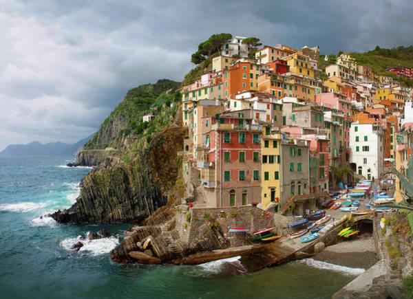 Photograph -  Riomaggiore Italy by Cliff Wassmann