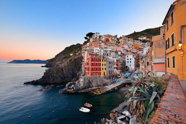 Photograph - Riomaggiore Waterfront by Songquan Deng