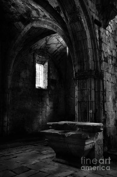Photograph - Rioseco Abandoned Abbey Altar Bw by RicardMN Photography