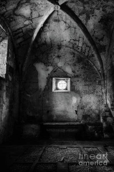 Photograph - Rioseco Abandoned Abbey Chapel Bw by RicardMN Photography