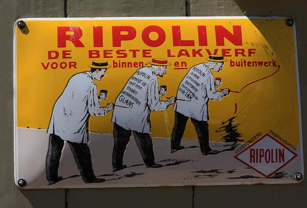 Photograph - Ripolin Advertising Sign by Aidan Moran
