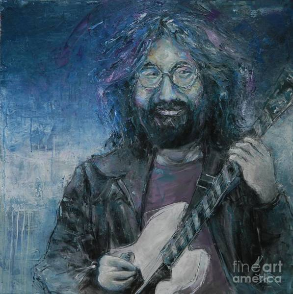 Deadhead Wall Art - Painting - Ripple In Still Water - Jerry Garcia by Dan Campbell
