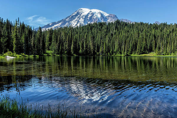 Photograph - Ripples And Reflection, Mt Rainier  by Belinda Greb