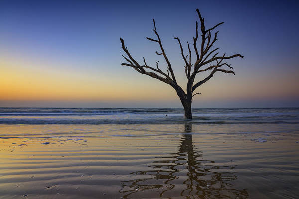 Photograph - Ripples - Botany Bay Plantation by Rick Berk