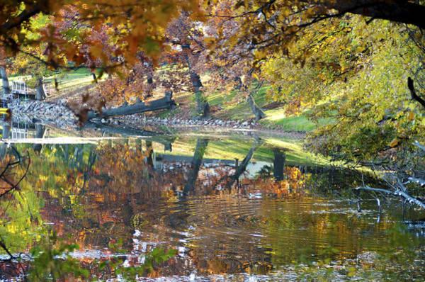 Photograph - Ripples In An Autumn Lake by Lynn Hansen